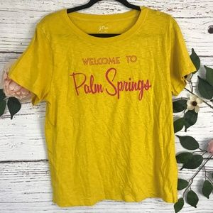 J.Crew Size Large Yellow Palm Springs Graphic Tee